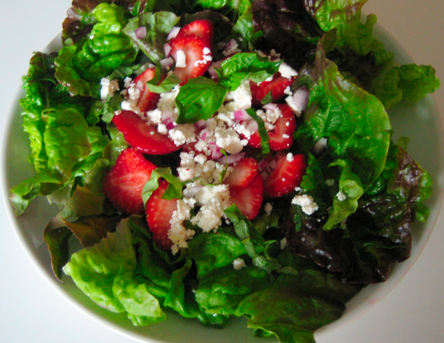 Salinas Valley Early Summer Salad - east of eden cooking