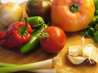 vegetables for salsa