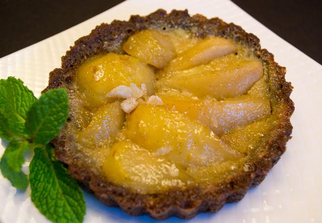 Freshly baked Ginger Pear Tart