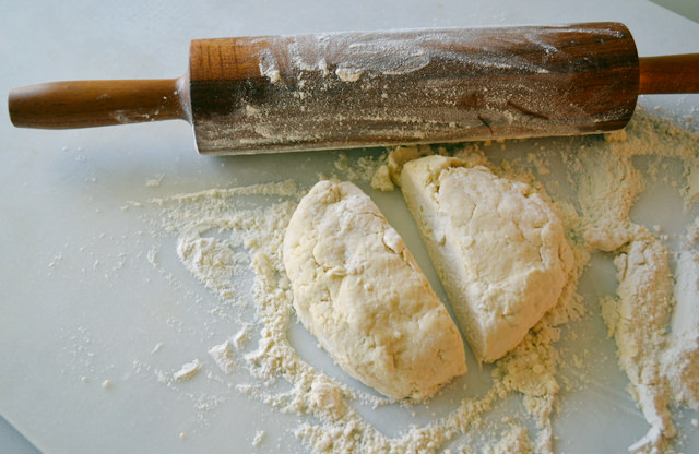 Rolling out dough for hand pies
