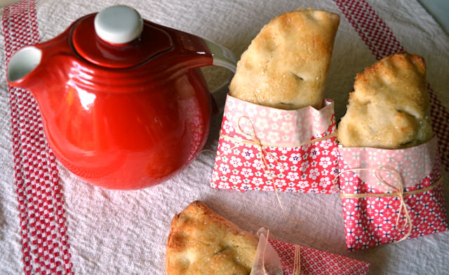 Hot tea and freshly-baked hand pies