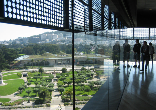 View from the observation tower at the De Young Museum