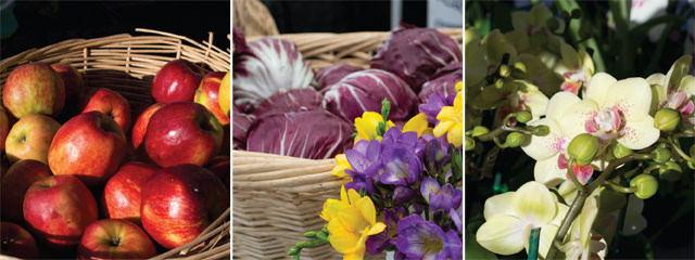 Produce and flowers at Aptos Farmers Market