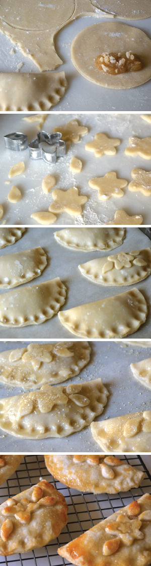 Working with the dough to create hand pies