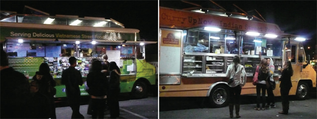 Food truck dining at Off the Grid