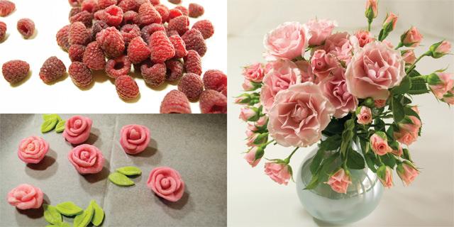 Tomboy raspberries and roses