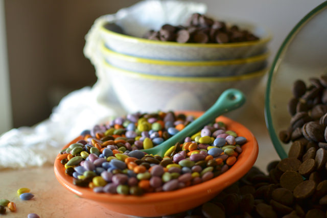 Chocolate-covered sunflower seeds