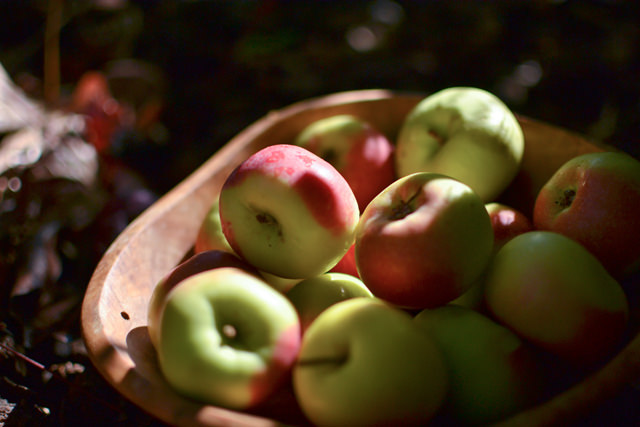 Bowl of fresh Little Lady apples