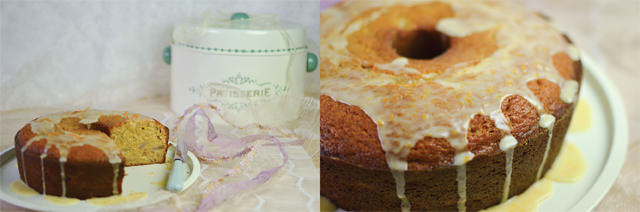 Brown Sugar Pear Pound Cake