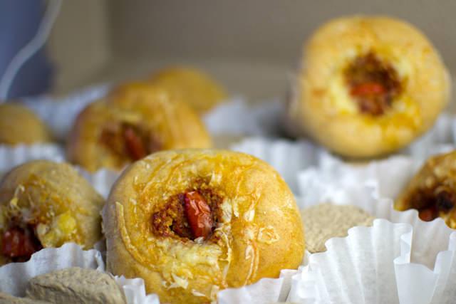 Freshly-baked rolls