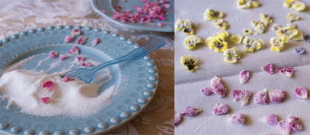 Making sugared roses