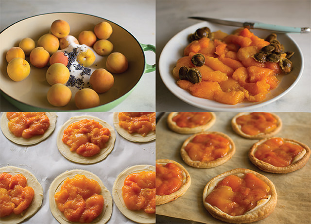 Making Blenheim Apricot tarts