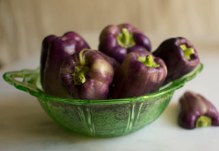 Purples bell peppers