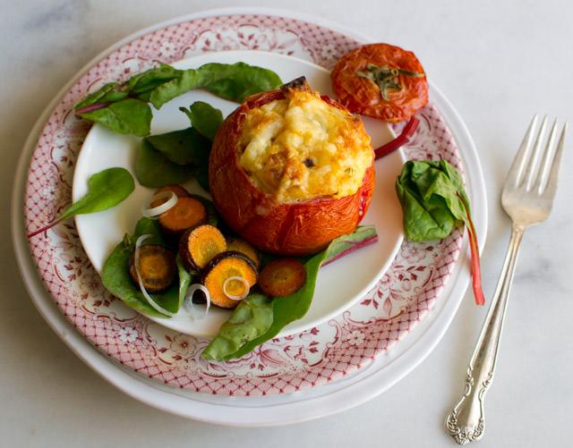 Tomato Bread Pudding