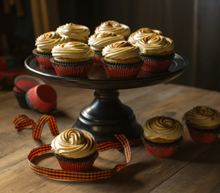 Batch of Pumpkin Spice Cupcakes