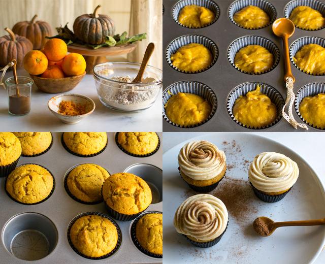 Making Pumpkin Spice Cupcakes