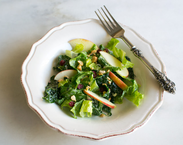 Kale Apple Salad with Cashews