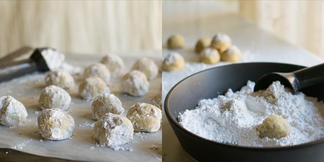 Tea Cakes and Powered Sugar