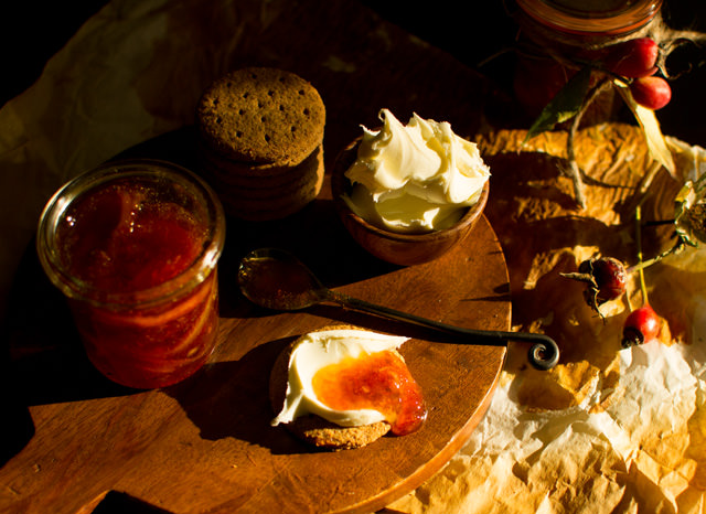 Rose Hip and Orange Marmalade and Crackers