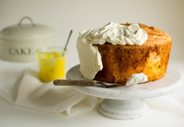 Frosting Daffodil Cake