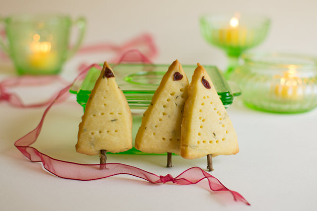 Rosemary Shortbread Trees