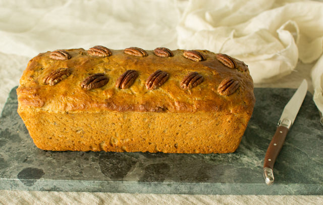 Yeasted Banana Bread with Toasted Pecans