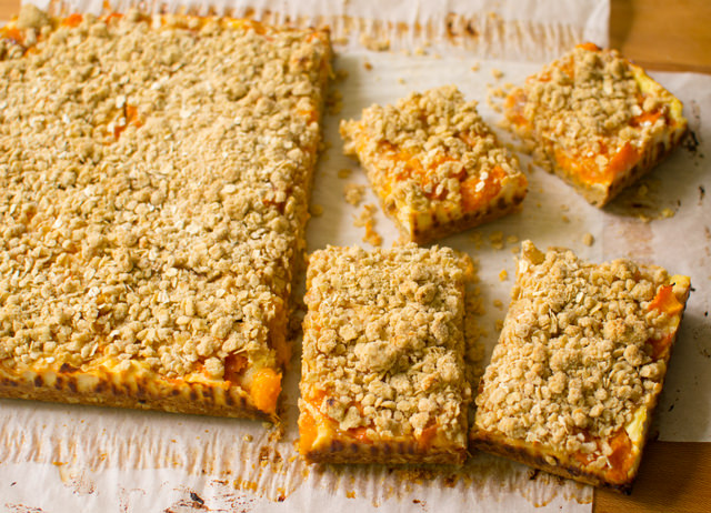 Apricot Ricotta Oat Bars | East of Eden Cooking