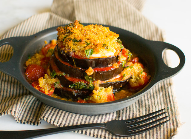 Eggplant Stacks with Buffalo Mozzarella