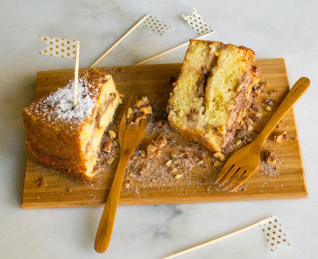 Betty Pretzer's Apple Coffee Cake with Sour Cream