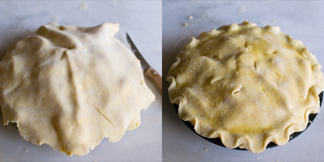 Making Chocolate Pear Pie