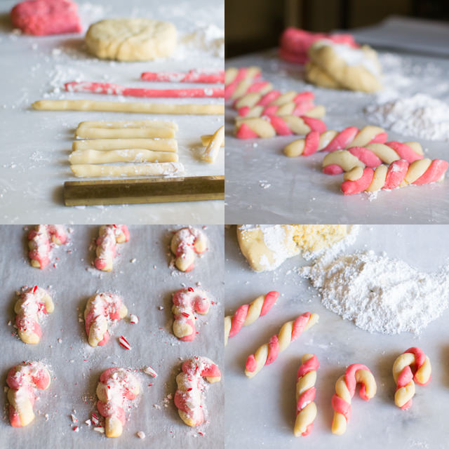 Making Candy Cane Cookies