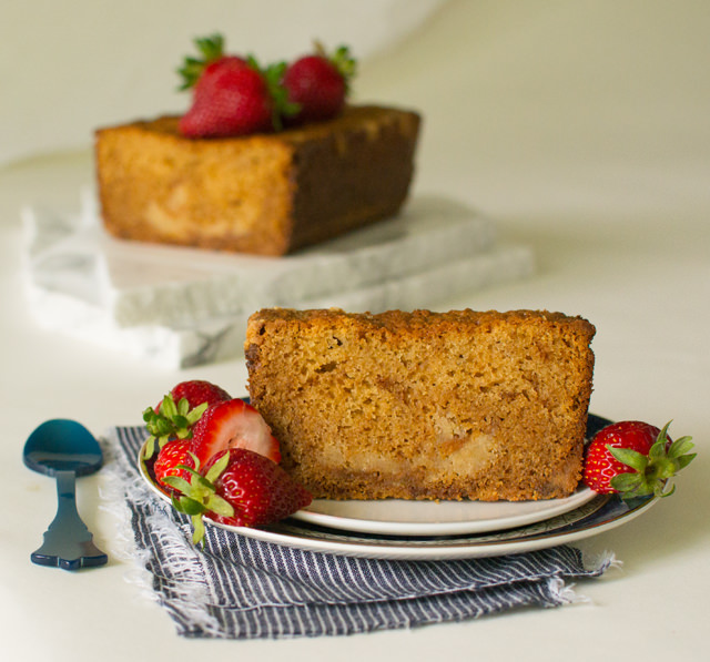 Caramelized White Chocolate Pound Cake