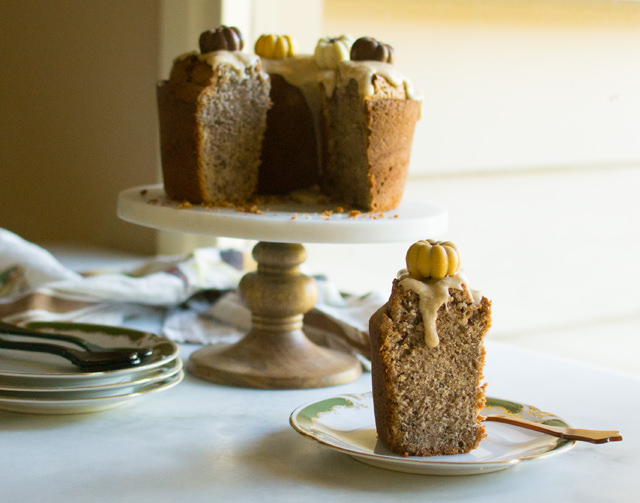 Maple Pecan Pound Cake with Maple Glaze | East of Eden Cooking
