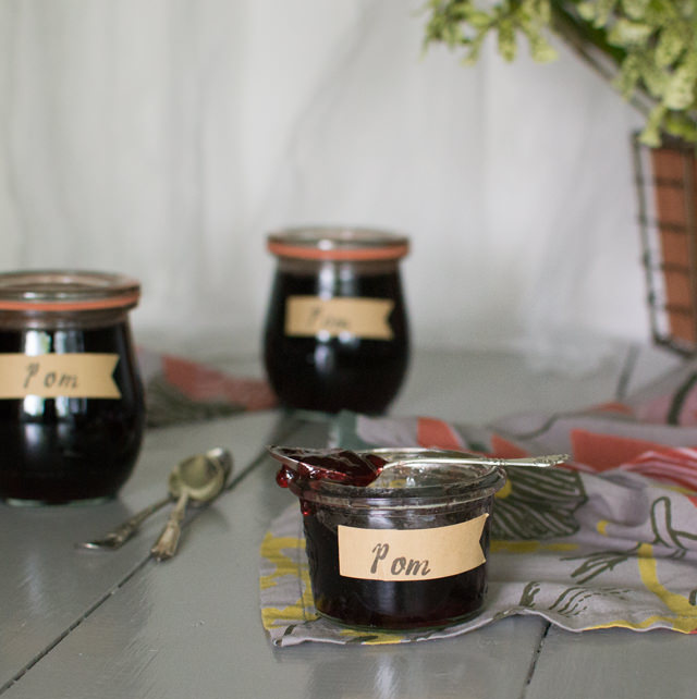 Pomegranate Jelly with Balsamic Vinegar