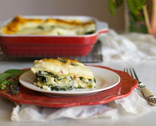 Chard Pancetta Lasagna