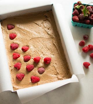 Making Chocolate Raspberry Brownies