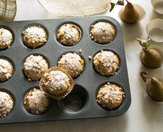 Pear Walnut Muffins