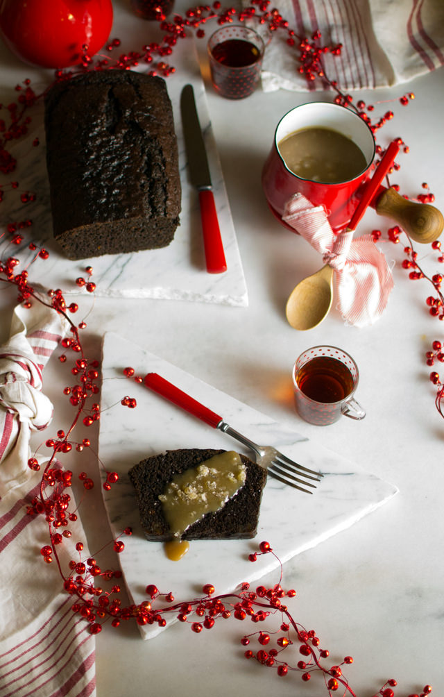 Triple Gingerbread and Caramel Sauce