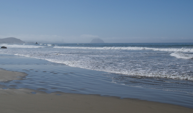 Cayucos Beach and Morro Rock